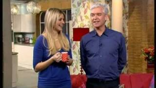 Phillip Schofield is drunk! & Holly gets the giggles - This Morning 25th November 2010