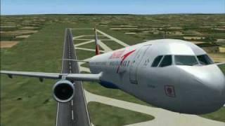 FS2004 Airbus A321-200 Austrian Airlines Vienna - Brussels