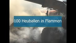 100 Heuballen in Niedersachsen in Flammen