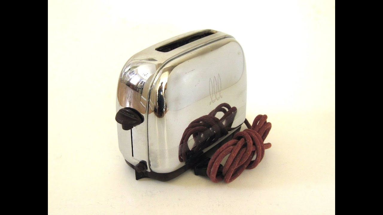 "Antique Toastmaster Toaster 1A5 Demo ""Automatic Pop Up Type"