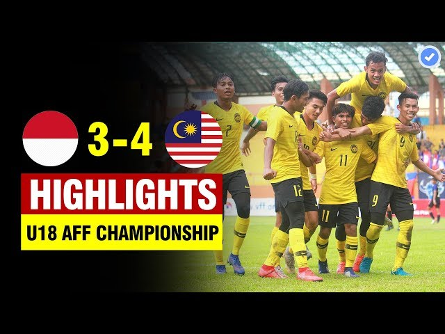 Indonesia 3-4 Malaysia | AFF U18 Championship 2019 | All Goals & Highlights 17/8/2019 HD