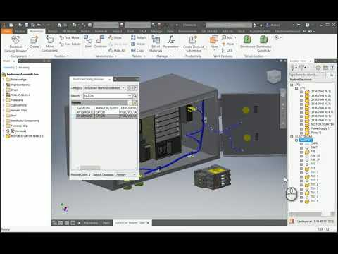 Insert components from Electrical Catalog into Inventor