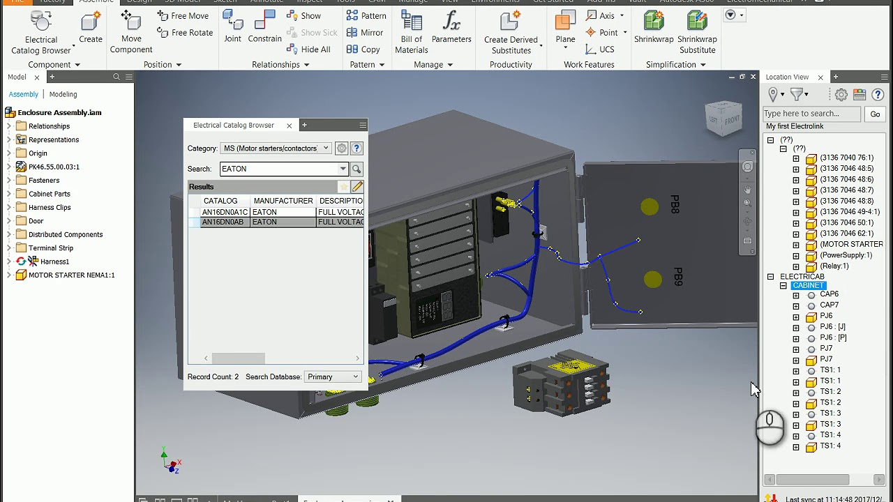 Insert components from Electrical Catalog into Inventor - YouTube