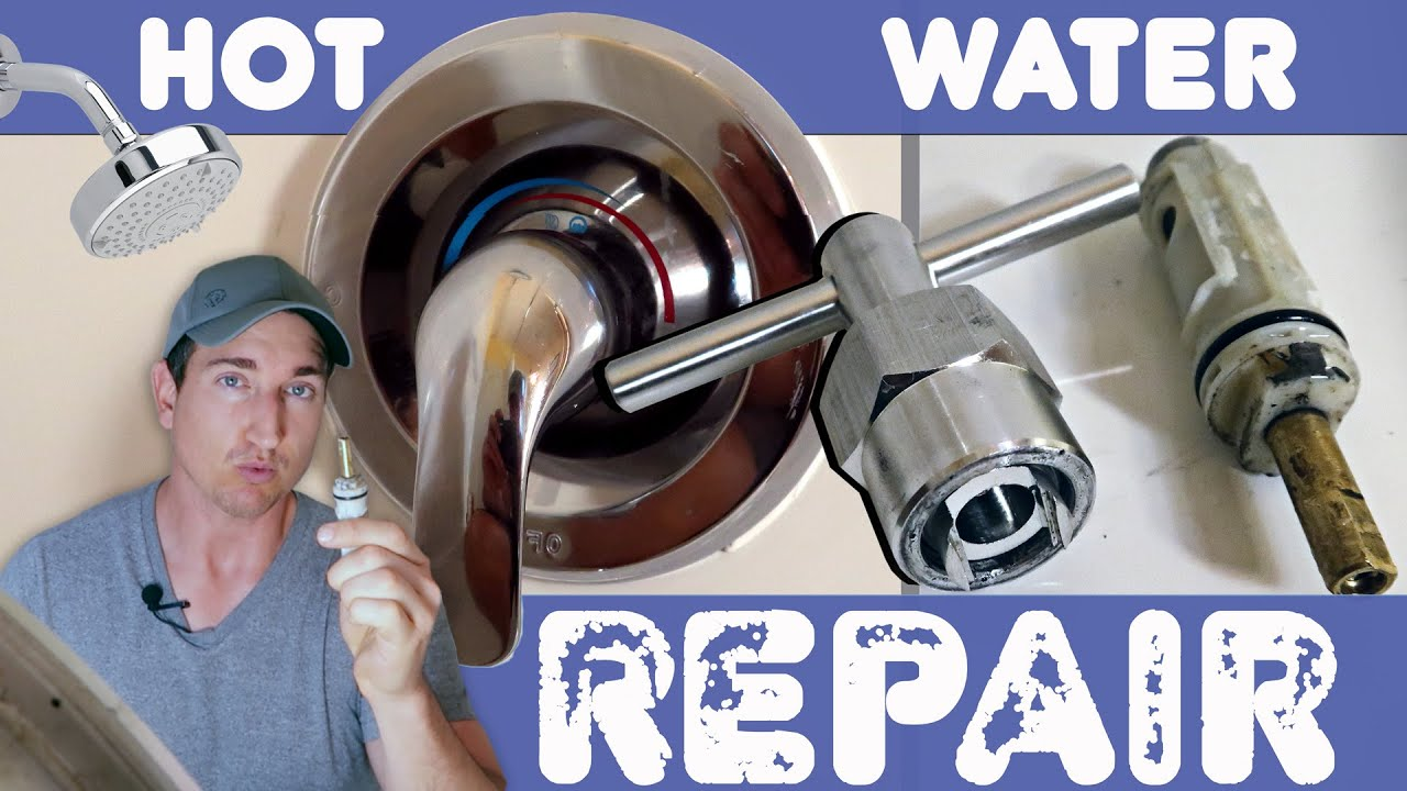 Shower Valve Cartridge Replacement No Hot Water Fix Youtube