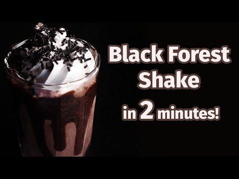 BLACK FOREST SHAKE | SHAKE IN 2 MINUTES