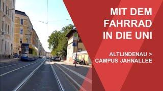 Mit dem Fahrrad in die Uni: Von Altlindenau zum Campus Jahnallee