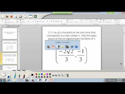 Trigonometry: Trig Functions, Unit Circle Approach