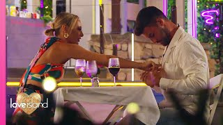 The boys get grafting over dinner with the bombshells