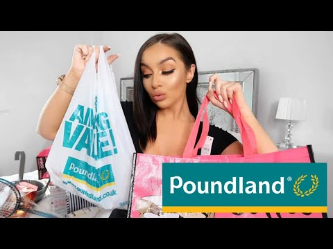 BIGGEST POUNDLAND HAUL EVER! // I SPENT £50 IN POUNDLAND!