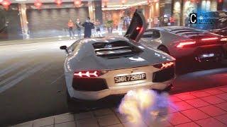Blooming Flame - Lamborghini Club Exiting Marina Mandarin Singapore
