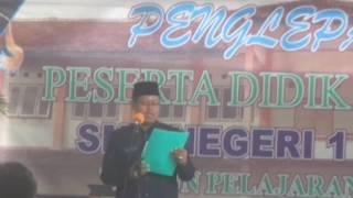 Sambutan bpk Walyono,SP.d di perpisahan IX SMPN1 Buayan 2016 | Rakiman Galih
