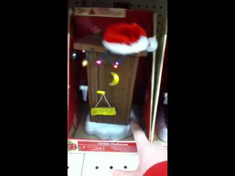 Santas Outhouse  Funny Christmas Decoration  YouTube