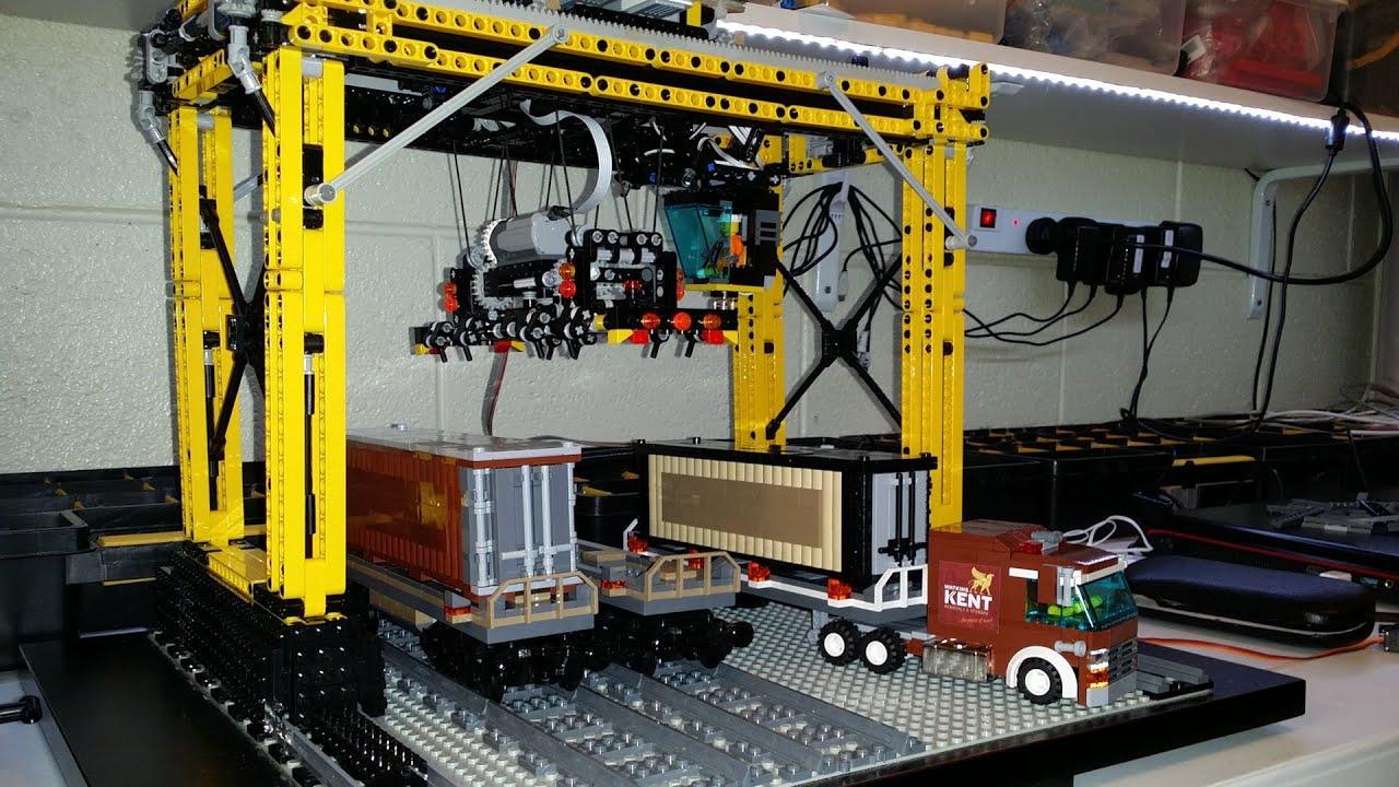lego mindstorms ev3 container handling crane youtube