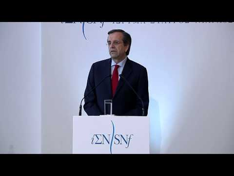2013-02-18 Press Conference - Initiative Against the Crisis - 03 Antonis Samaras