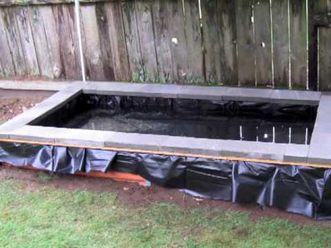 Diy pond waterfall filter build step by step for less for Building a koi pond step by step
