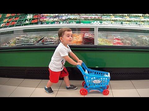 bebê-fazendo-compras-no-mercado-com-carrinho-de-brinquedo---supermarket-shopping-cart-toys