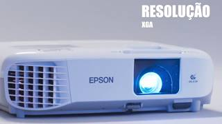 Projetor Epson PowerLite X39, Conexo HDMI, 3500 Lumens, Branco