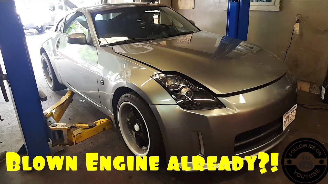 FuckBoi ricer almost blows 350z vq engine, insanely low oil pressure how to  avoid galley gasket job