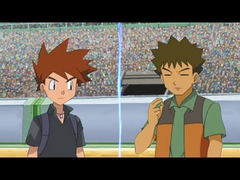 Pokemon Battle USUM Gary Vs Brock Rival and Companion Face Off!