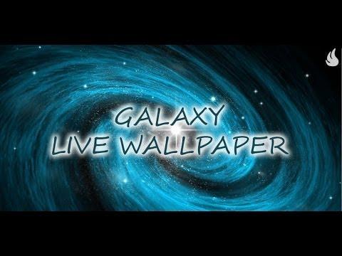 Galaxy Live Wallpaper - YouTube