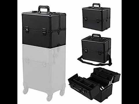 10aa679a08a8 Save 80%, Lovinland Makeup Cosmetic Train Case 3 in 1 Aluminum Cosmetic  Organizer Makeup Case Lockab