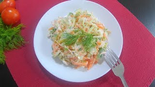 🥗Овощной супер витаминный салат с заправкой из йогурта и сока лимона🍴❗️  Очень ПОЛЕЗНО, ВКУСНО👌❗️