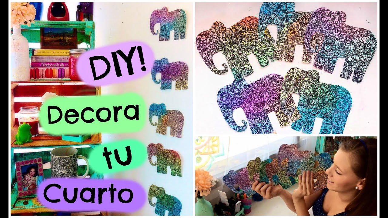 Decoraci n para tu cuarto diy zentangle art youtube - Diy decoracion habitacion ...