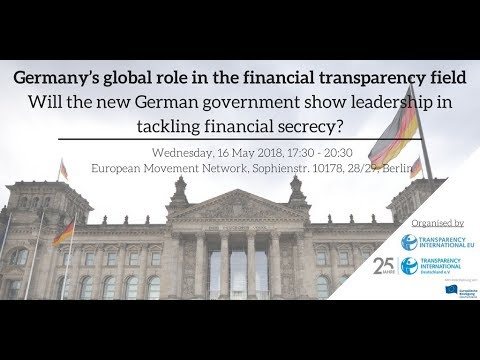 Germany's Global Role in the Financial Transparency Field - Panel Discussion