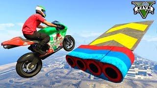 GTA V Online: MOTOS em OBSTÁCULOS 100% INCRÍVEIS!!! (Skill Test)