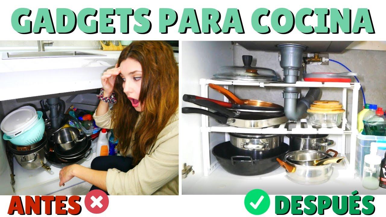 ORDEN EN LA COCINA / GADGETS Ingeniosos (Optimizar espacio, Ordenar especies, Reciclaje fácil...) AD