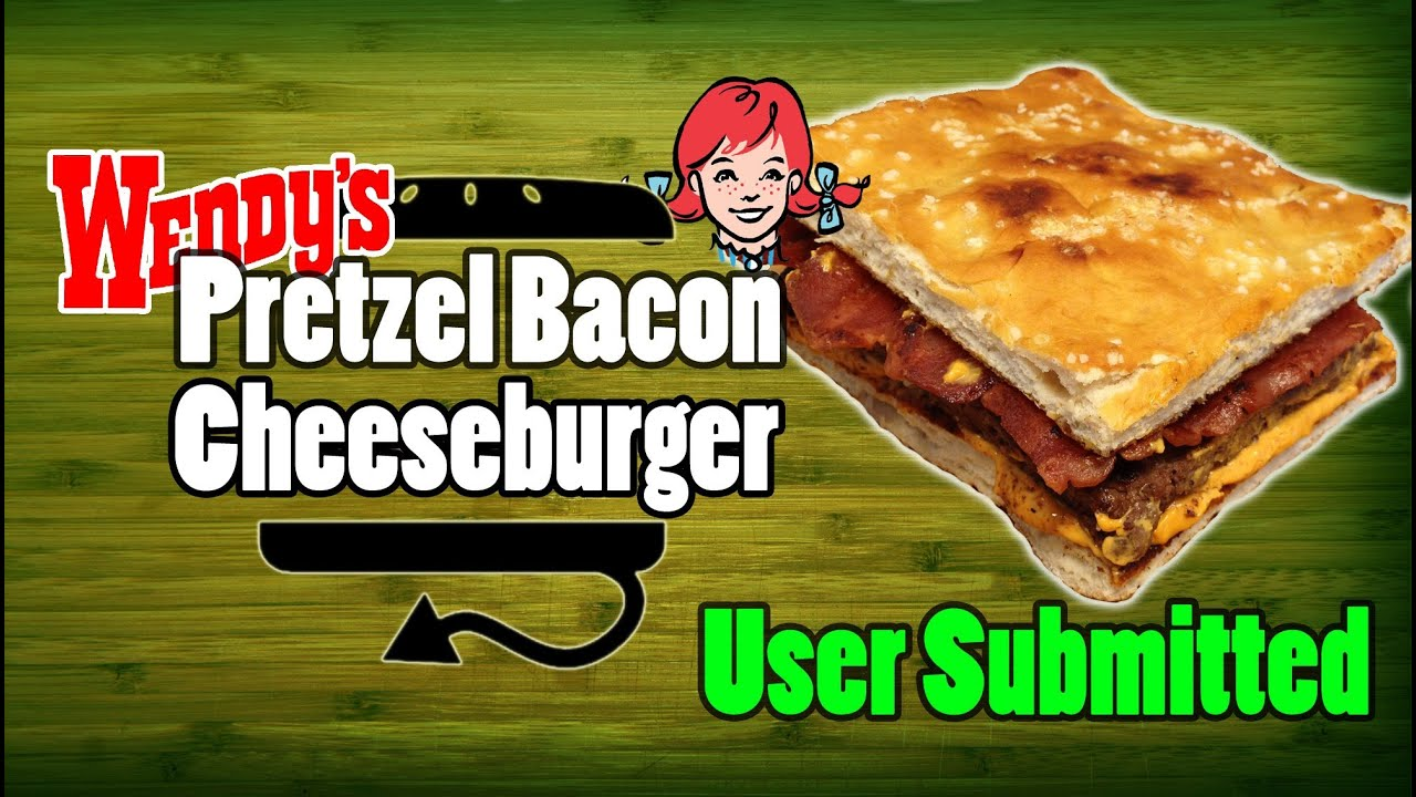 Wendy's Pretzel Bacon Nacho Cheese Burger