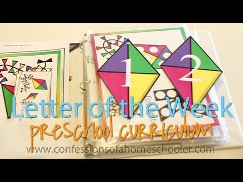 Letter of the Week Preschool Curriculum