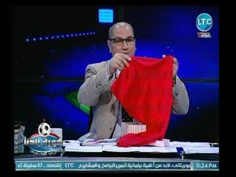 """مالكة قناة الـ """"LTC""""  تفاجئ """"عبد الناصرزيدان"""" وتُهدي مرتضى منصور """"طرحة"""" و """"مُطهر"""" عالهواء"""