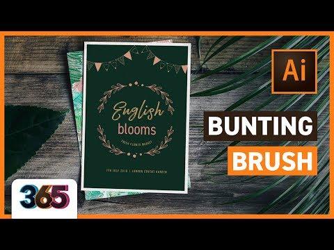 🚩 Bunting Brush | Illustrator Tutorial #164/365 thumbnail