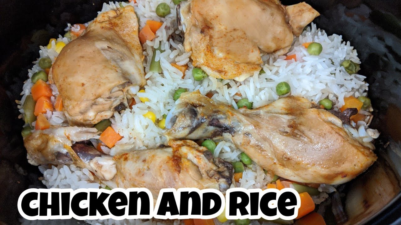 How to make chicken and rice in the slow cooker/Simple Dinner
