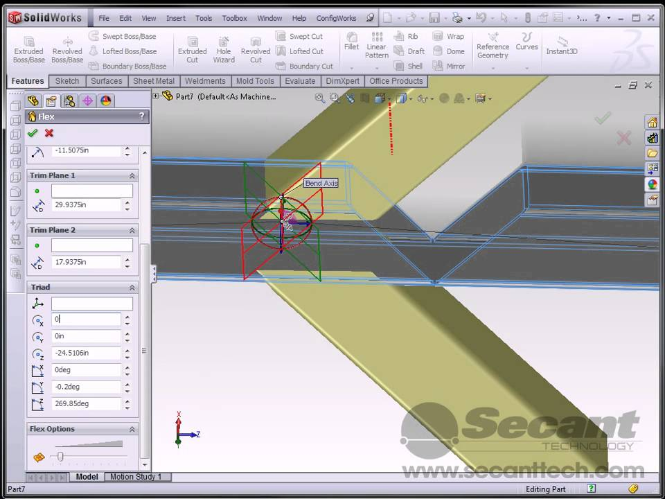 Solidworks Bending A Square Tube Youtube