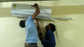 How to Install a Ductless Mini-Split Air Conditioner -office and house