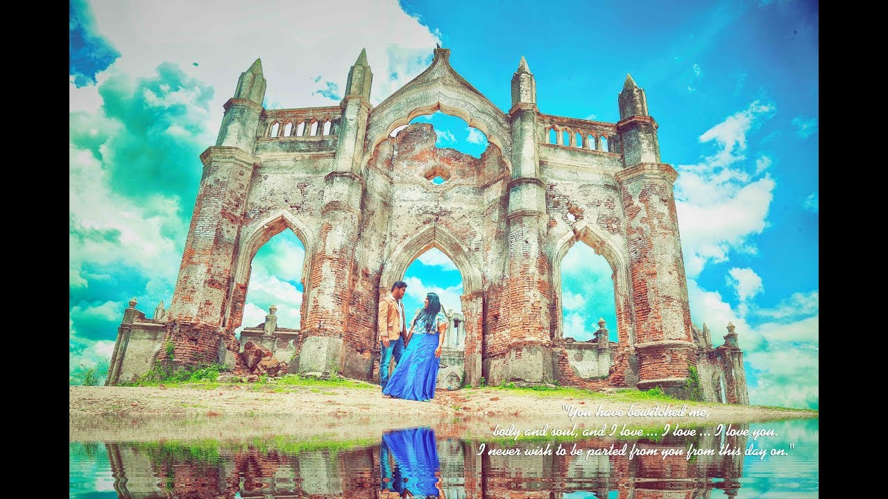 Indinan Pre Wedding Song Shoot Shettihalli Church Ondu Malebillu Pavithra Manjunath
