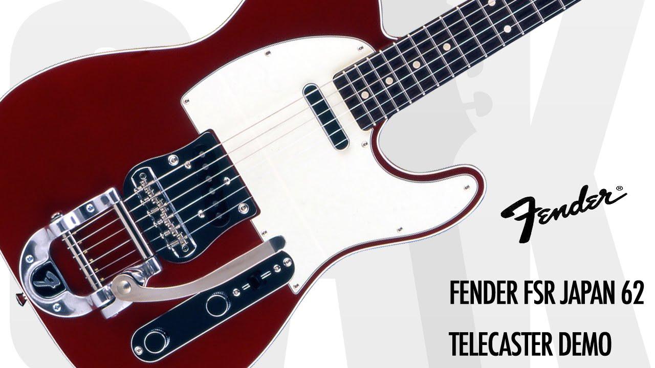 Fender FSR Japan 62 Telecaster Demo at GAK