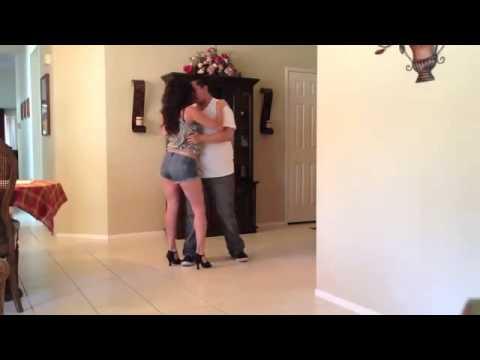 Bachata Dancing to  Darte Un Beso   Prince Royce