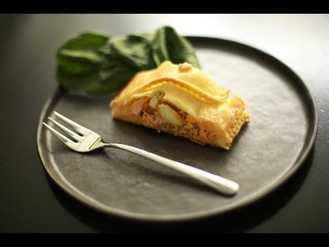 recette-du-feuilleté-saumon-et-riz-basmati-aux-herbes