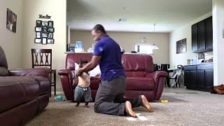 Garen dancing Applaudise with Daddy