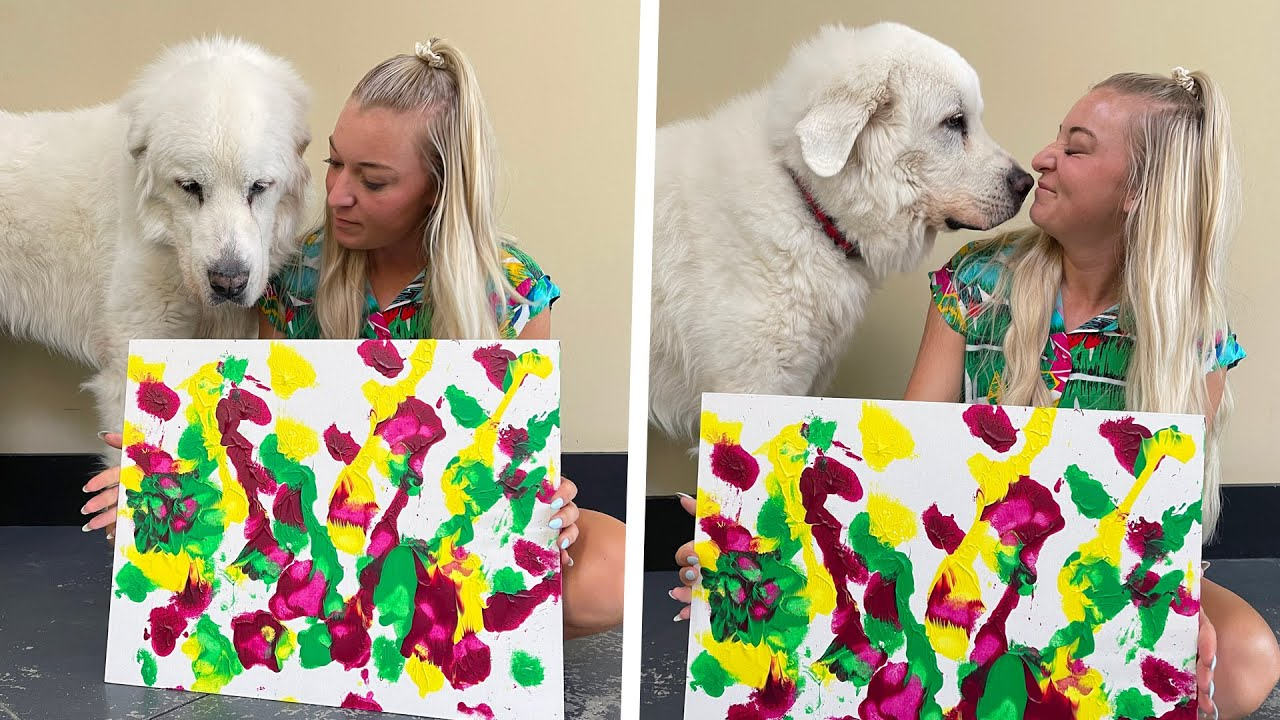 Download DOG MAKES INCREDIBLE ABSTRACT PAINTING!