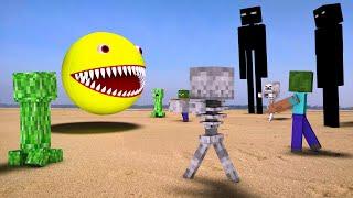 Minecraft Vs Pacman In Real Life - 4K