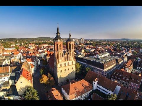 Göttingen von oben - Kurzer Flug einer Videodrohne über Göttingen - Teil 1