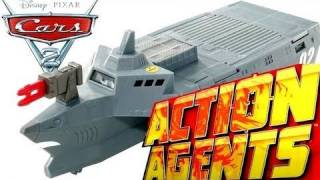 Cars 2 BATTLE STATION ACTION AGENTS Playset Tony Trihull Launcher Disney Pixar toys Blucollection