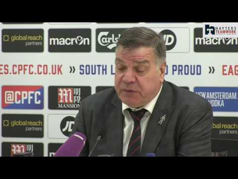 Allardyce apologises to Palace supporters