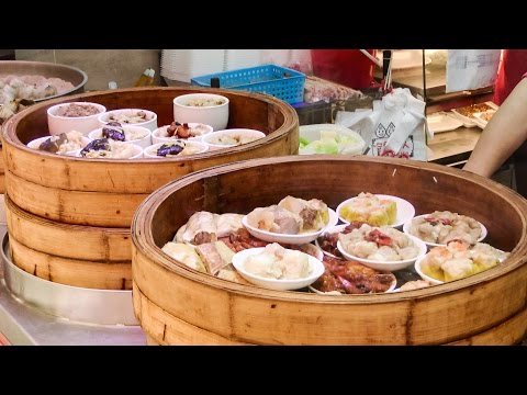 Hong Kong Street Food. The Dim Sum Stall in Wan Chai
