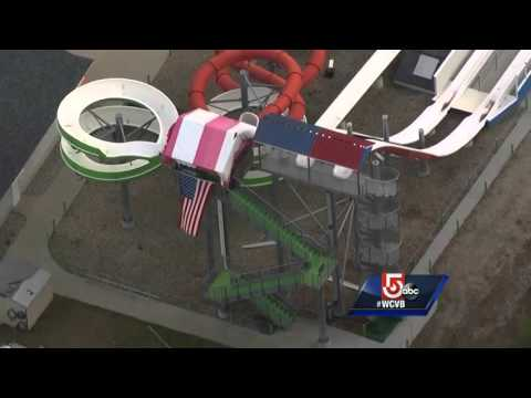 Owner chains self to waterslide to save water park