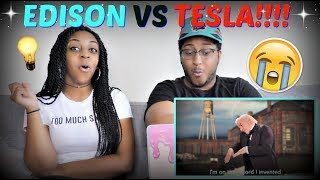 "Epic Rap Battles of History ""Nikola Tesla vs Thomas Edison"" REACTION!!!"
